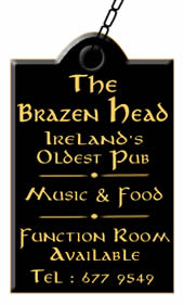 brazen head pub dublin sign