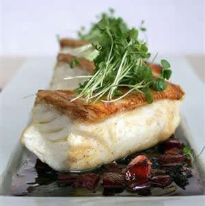 Halibut at L'Ecrivan