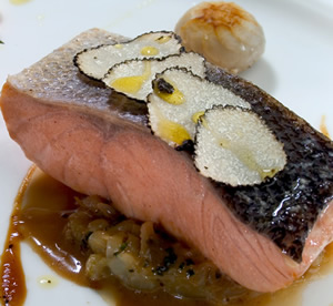Salmon Dish at Thornton's
