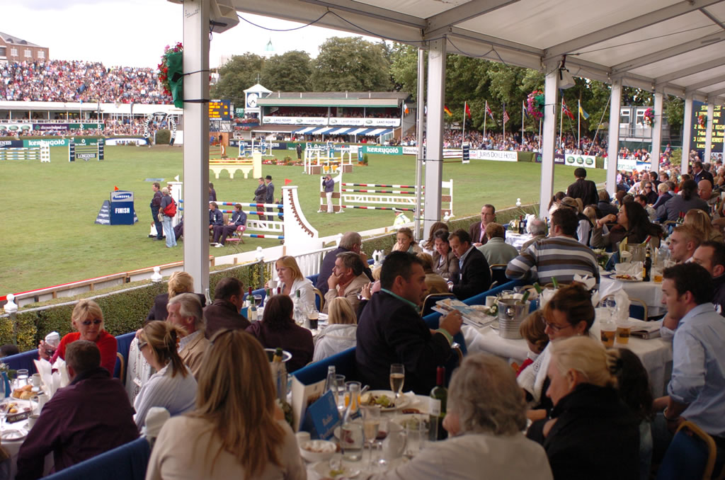 Dining at Dublin Horse Show 2015