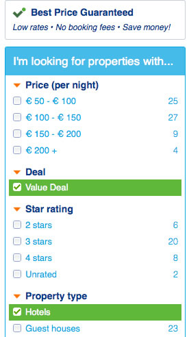 deals filter dublin accommodation