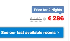 booking.com reduced prices