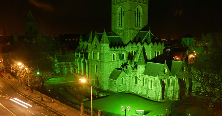 Christchurch Cathedral St Patricks Day Dublin