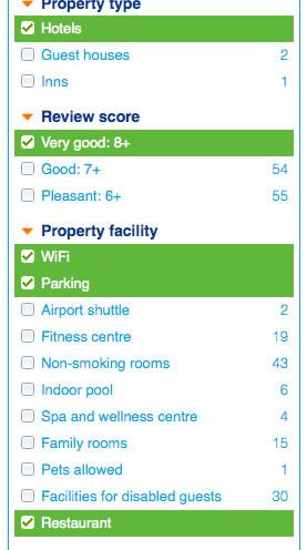 dublin hotel filter