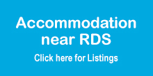 Accommodation near the RDS