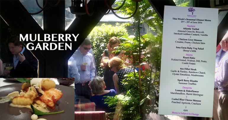 mulberry garden Dublin restaurant