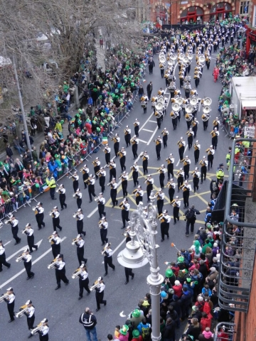 dublin st patricks day marching bands